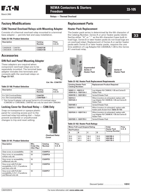 Image of an Eaton H2014B-3 data sheet page 3