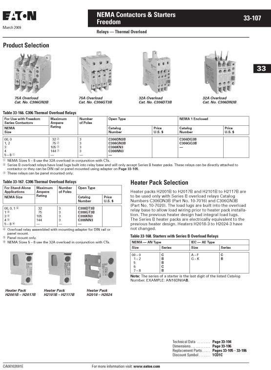 Image of an Eaton H2014B-3 data sheet page 5