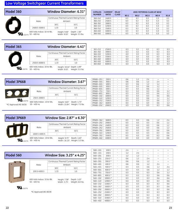 GE Instrument Transformers OEM Guide Pages 22 & 23