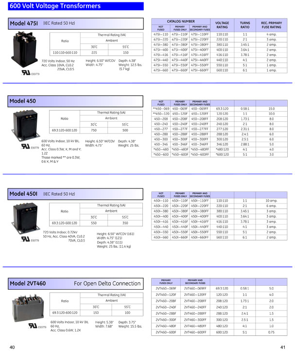GE Instrument Transformers OEM Guide Pages 40 & 41
