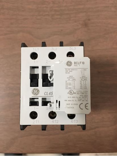 Image of the front of a GE CL45A310MJ contactor