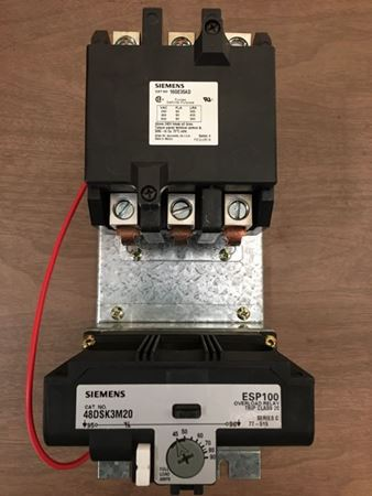 the front of a SIEMENS 16GE35AD motor starter