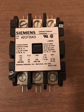 the front of a SIEMENS-FURNAS 42CF35AG contactor