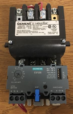 Image of the front of a SIEMENS 14DUD32AL motor starter