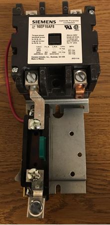 Image of the front of a SIEMENS-FURNAS 16EF15AF8 definite purpose magnetic motor starter