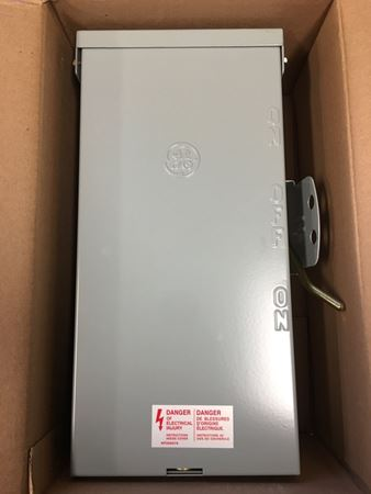 the front of a GE TC10323R Emergency Power Transfer Switch