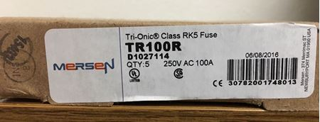 Image of a box of Mersen TR100R fuses