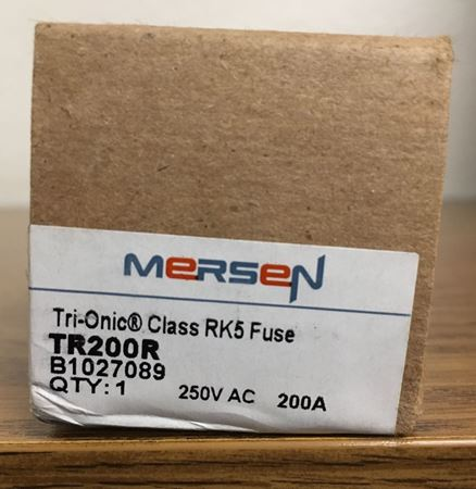 a box of Mersen TR200R fuse