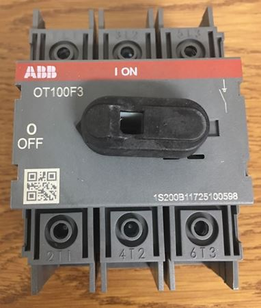 the top of an ABB OT100F3 General Purpose Switch