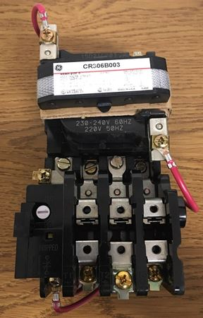 Image of the front of a GE CR306B003 magnetic starter