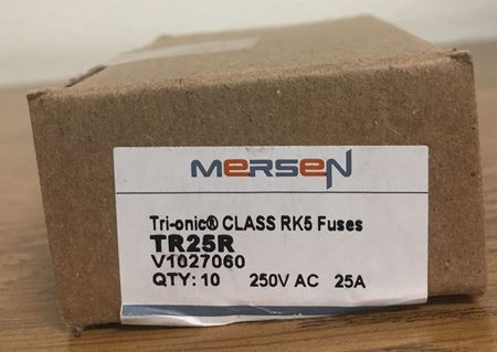Image of a box of Mersen TR25R fuses