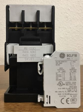 Image of the label of a GE CL25A310TS contactor