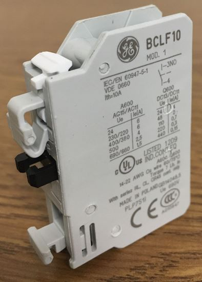 Image of the angle of a GE BCLF10 auxiliary contact