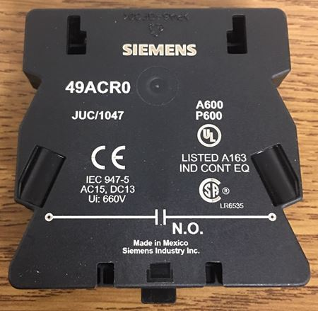 SIEMENS / FURNAS 49ACR0 - NO Auxiliary Contact
